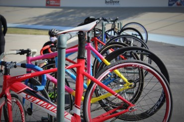 colorful bikes